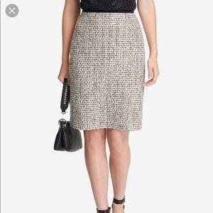 Gray Calvin Klein Tweed Pencil Skirt